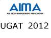 Undergraduate Aptitude Test 2012 on May 12 By AIMA