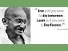 Mohandas Karamchand Gandhiji's walk of Education and Life