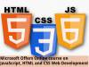 Microsoft: Online course on JavaScript, HTML and CSS Web Development