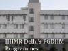 IIHMR Delhi PGDHM programmes in Health Management and other streams