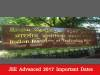 Important dates for JEE Advanced 2017 released