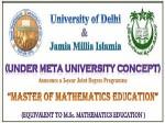 Jmi And Du Jointly Announce Msc Mathematics Program