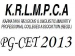 Krlmpca Pg Cet 2013 Online Application From Available