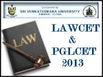 Andhra Pradesh Law Cet 2013 To Be Held On 6 June