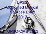 Upsc Cms 2013 Entrance Exam Fee Details