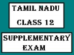 Tamil Nadu Class 12 Supplementary Exam 2013 Time Table