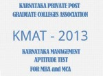 Kmat 2013 Entrance Exam Results Announced
