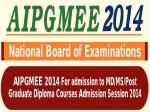 Aipgmee 2014 Online Registration Procedure