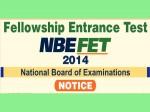 Nbe Fellowship Entrance Test Fet 2014 2nd February