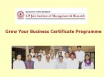 Spjimr Offers Grow Your Business Certificate Programme