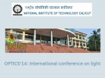 Nit Calicut Invites For Optics 14 International Conference On Light