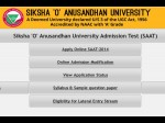 Soa University Saat 2014 Online Application Form Available