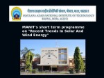 Manit Bhopal Announces Short Term Training Programme