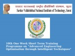 Svnit Declares Its 10th One Week Short Term Training Programme