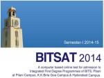 Bits Pilani Bitsat 2014 Admissions To 1st Degree Programmes
