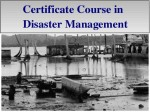Certificate Course Disaster Management