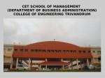 Coe Trivandrum Announces Mba Admissions