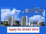 How To Apply For Suresh Gyan Vihar University Gvsat