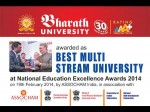 Bharath University Bags The National Education Excellence Award