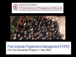 Spjimr Opens Admissions For Pgpm 1 Year Mba Programme
