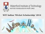 Wit Indian Wicket Scholarship 2014 Find Details To Apply