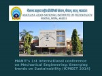 Manit 1st International Conference On Mechanical Engineering