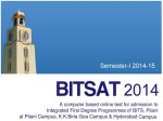 Bitsat 2014 Computer Based Exam Slot Booking Till 20th March