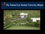 Nliu Bhopal Offers Distance Learning Pgd In Cyber Law