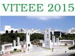 Vit University Conduct Viteee 2015 From April 8