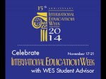 International Education Week With Wes Student Advisor