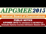 Aipgmee 2015 Rescheduled Exam On December 10 And