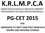Krlmpca Pgcet For Medical Dental Courses Karnataka