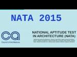 Nata 2015 Online Registration Starts From March