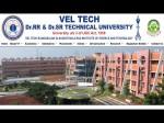 Vel Tech University Offers B Tech Programme Admissions