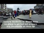 Nepal S Sanskrit Students Nowhere Go But Prayers On Lips