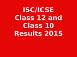 How To Check Cisce Isc Class 12 Icse Class 10 Results