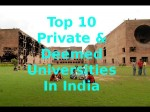 Top 10 Private And Deemed Universities In India