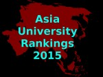 Top 10 Universities In Asia