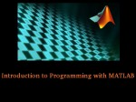 Introduction To Programming With Matlab Course By Vanderbilt Univ