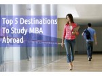 Top 5 Destinations To Study Mba Abroad
