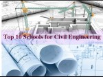 Top 10 Schools For Civil Engineering In The World