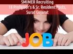 Smimer Recruiting 18 Professor S Sr Resident Posts Surat Gujarat
