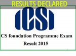 Icsi Exam Conducted June 2015 Have Declared Cs Results