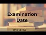 Dnb Cet Ss Exam Dates Announced