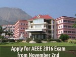 Important Dates Apply Aeee 2016 Exam From November 2nd