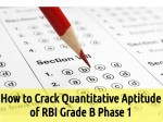 How Crack Quantitative Aptitude Rbi Grade B Phase