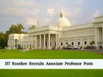 Iit Roorkee Hiring For 20 Associate Professor Posts