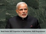 Modi Seeks Mit Expertise In Digitisation Skill Programmes