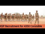 Ksp Invites Application For 4350 Constable Men And Women Posts