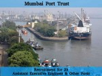 Mumbai Port Trust Recruits 23 Asst Executive Engineer And Other Posts